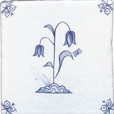 delft flower design five