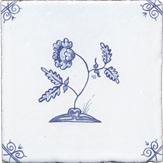 delft flower design one