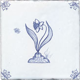 delft flower design six