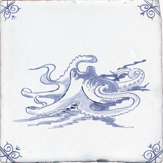 blue delft sea creature five