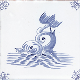 blue delft sea creature four