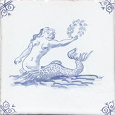 blue delft sea creature one