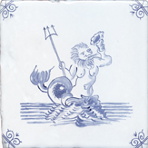 blue delft sea creature six