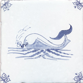 blue delft sea creature two