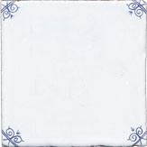 Blue delft corners only design tile