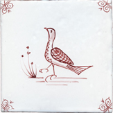 crimson delft bird design five