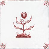 crimson delft flower design eleven
