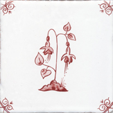 crimson delft flower design nine