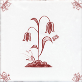 crimson delft flower design ten