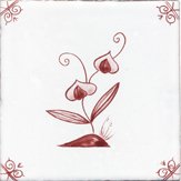 crimson delft flower design twelve